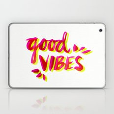 Good Vibes – Pink & Yellow Laptop & iPad Skin
