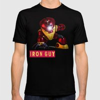 iron guy Mens Fitted Tee Black SMALL