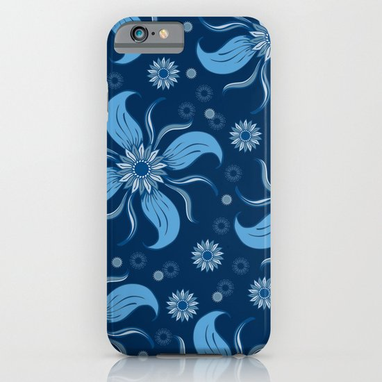 Floral Obscura Dark Blue iPhone & iPod Case