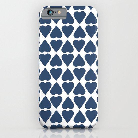 Diamond Hearts Repeat Navy iPhone & iPod Case
