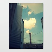 Chicago Clouds And Smoke… Canvas Print