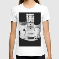 While my guitar gently weeps Womens Fitted Tee White SMALL