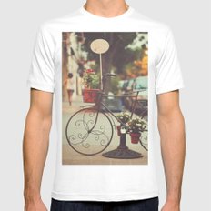 The bike with the flowers Mens Fitted Tee White SMALL