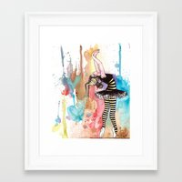 I want to melt with the color... Framed Art Print
