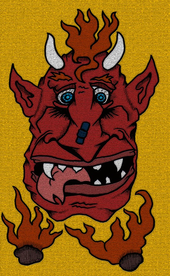 The Downside of Being the Devil... Art Print