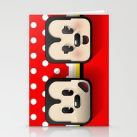 sweethearts, mickey and minnie Stationery Cards