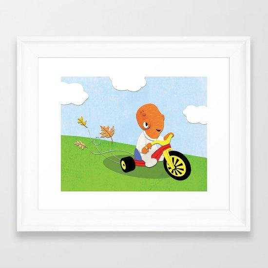 SW Kids - Big Wheel Ackbar Framed Art Print