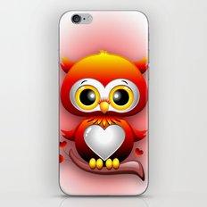 Baby Owl Love Heart Cartoon  iPhone & iPod Skin