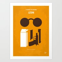 No239 My LEON minimal movie poster Art Print