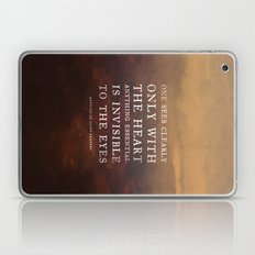 I. Anything essential is invisible to the eyes. Laptop & iPad Skin