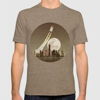 Rocket City Mens Fitted Tee Tri-Coffee SMALL