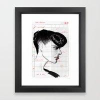 Fashion Hair With Ledger… Framed Art Print