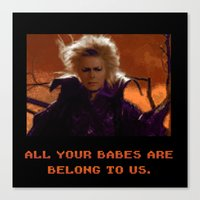 All Your Babes Canvas Print