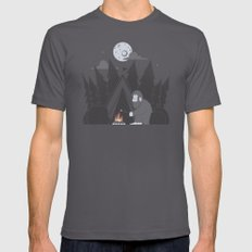 Forest Life Mens Fitted Tee Asphalt SMALL