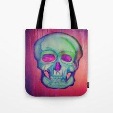 Watercolor skull/Blue Tote Bag