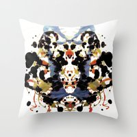 Ink blot v1 Throw Pillow