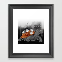Urban Communication Turtle Framed Art Print