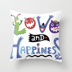 Love and Happiness Throw Pillow