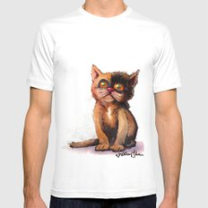 Gimme' Kitty Mens Fitted Tee White SMALL