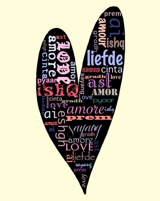 Multilingual Love Art Print