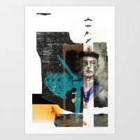 NEGLIGENT ANGLE Art Print