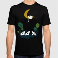 A cow jump over the moon Mens Fitted Tee Black SMALL