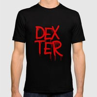 Word: Dexter Mens Fitted Tee Black SMALL