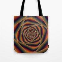 Tunnel Spiral In Orange … Tote Bag