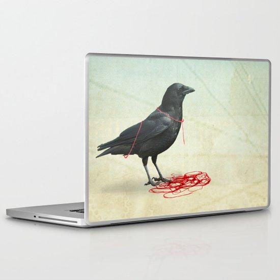 freedom  _ black crow Laptop & iPad Skin