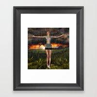 ILuvTheRain Framed Art Print