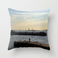 Hudson River Meets Liber… Throw Pillow