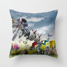 monster II Throw Pillow