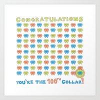 100th Collar! Art Print