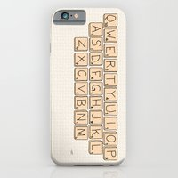 Qwerty Scrabble  iPhone 6 Slim Case