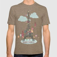 Eiffel Tower Mens Fitted Tee Tri-Coffee SMALL
