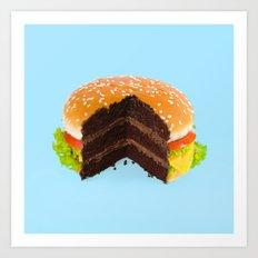 Hamburger Cake Art Print
