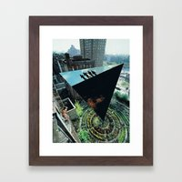 Density and  Expansion. Framed Art Print