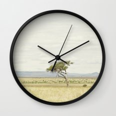 tree of life::kenya Wall Clock