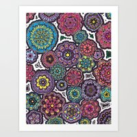 Psychedelic Flowers Art Print