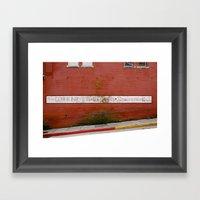 Brick Framed Art Print
