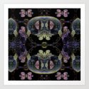 Symmetreats - Floral Gravity Art Print