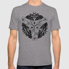 Moth Mandala Mens Fitted Tee Athletic Grey SMALL