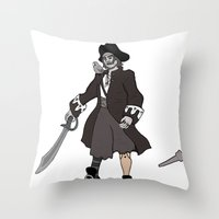 Pirate Prosthetics Throw Pillow