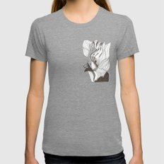 EL hombre pájaro Womens Fitted Tee Tri-Grey SMALL