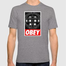 OBEY - Big Daddy Mens Fitted Tee Tri-Grey SMALL