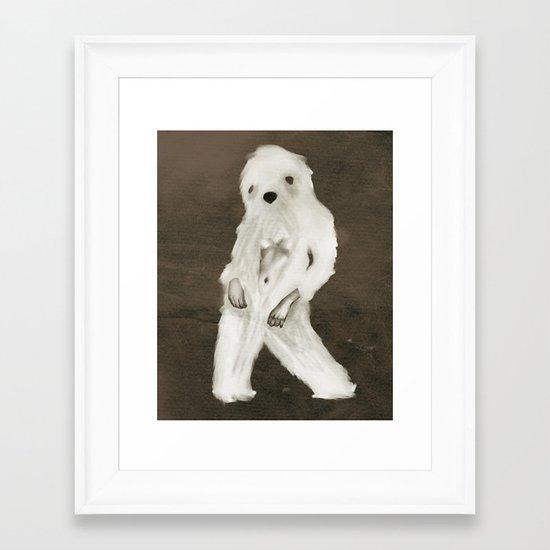 Yetti Framed Art Print