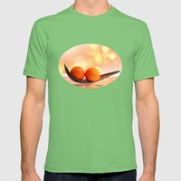 Orange magic Mens Fitted Tee Grass SMALL