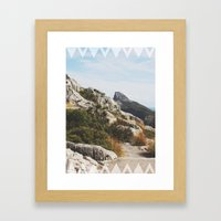Follow the Mountains Framed Art Print