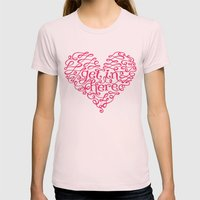 Get In My Heart Womens Fitted Tee Light Pink SMALL
