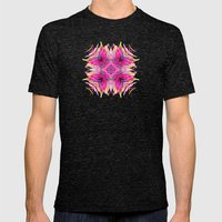 Grazioso Bold Kaleido Pink Mens Fitted Tee Tri-Black SMALL